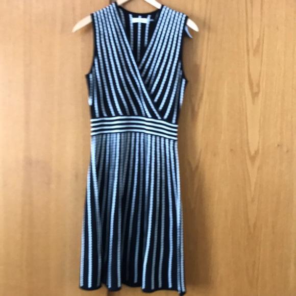 0cb7690f97a Calvin Klein Dresses & Skirts - Calvin Klein blk/white scalloped stripe  knit midi